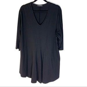 Doris Streich Black Knit V Neck Tunic Top